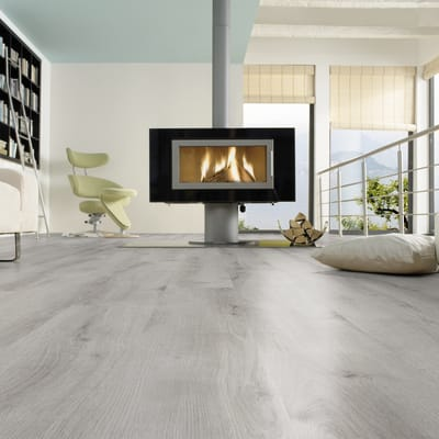Pavimento laminato Advanced Londra Sp 8 mm grigio / argento