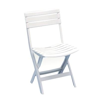 Sedie Legno Pieghevoli Prezzi.Sedia Birki Colore Bianco Prezzi E Offerte Online Leroy Merlin