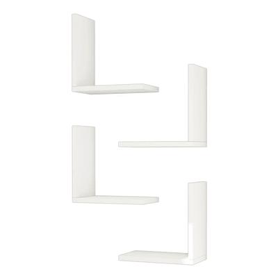 Mensola Alfa L 30 x P 16 cm, Sp 20 cm bianco