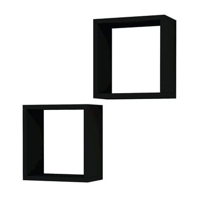 Mensola Alfa L 30 x P 16 cm, Sp 20 cm nero