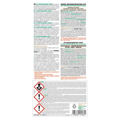 Colla per riparazioni poliuretano per legno Epossidica 150 + 150 ml