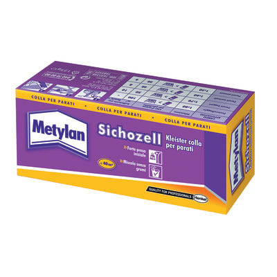 Colla per rivestimento murale polvere Metylan Sichozell 0.12 kg