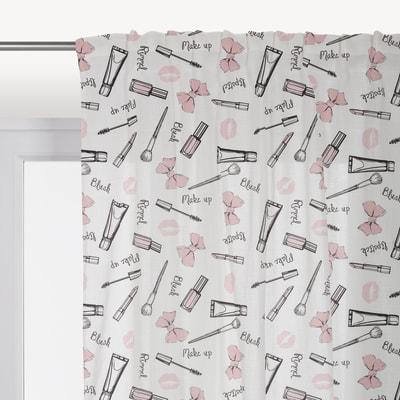 Tenda Make-up rosa fettuccia con passanti nascosti 140 x 290 cm