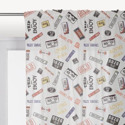Tenda America multicolor fettuccia con passanti nascosti 140 x 290 cm
