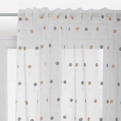 Tenda Chloe bianco fettuccia e passanti 140 x 290 cm