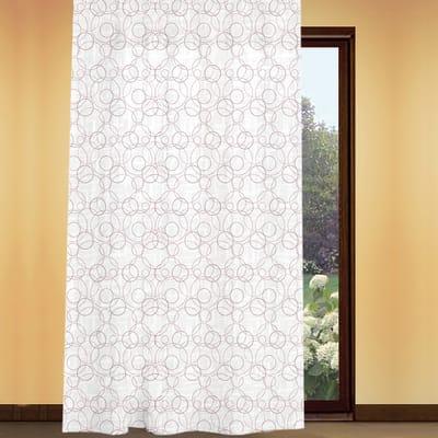 Tenda Circle bianco con stampa corda fettuccia con passanti nascosti 180 x 280 cm