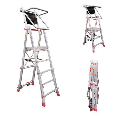 Scala telescopica FARAONE Pls in alluminio 3+4+5 gradini per lavori fino a 3.1 m