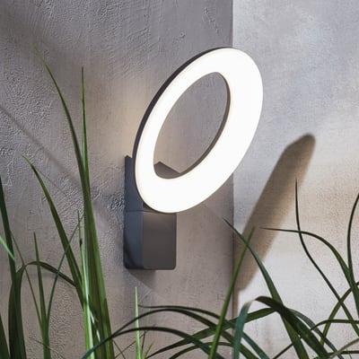 Applique Quito LED integrato in alluminio, grigio, 16W 2100LM IP54 INSPIRE