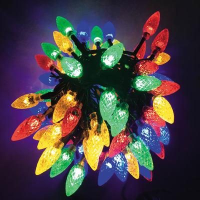 Catena luminosa 100 lampadine LED multicolore