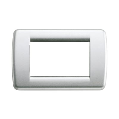 Placca VIMAR Idea 3 moduli argento metallizzato