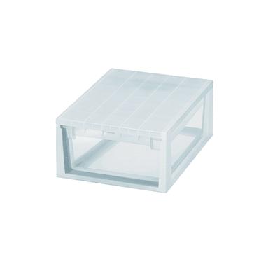 Cassettiera L 29.6 x P 39 x H 16 cm trasparente