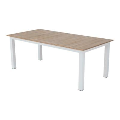 Tavolo da giardino rettangolare San Diego con piano in legno