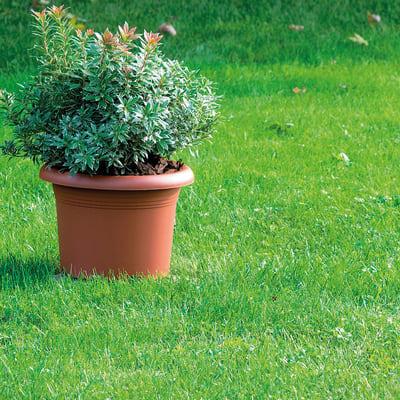 Vaso Mediterraneo STEFANPLAST in plastica colore cotto H 14 cm, Ø 20 cm