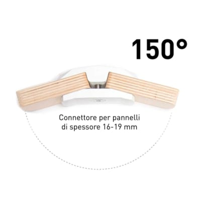Sistema di assemblaggio playwood 150° pvc  4 pezzi , bianco