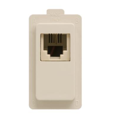 Presa rj11 FEB Click-Laser 2 A bianco