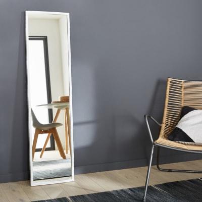 Specchio a parete rettangolare Milo bianco 30x120 cm INSPIRE