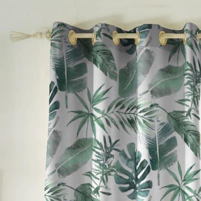 Tenda INSPIRE Syon verde occhielli 140 x 270 cm