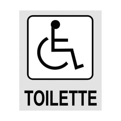 Cartello segnaletico Toilette h polipropilene 8 x 10 cm