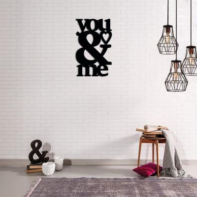 Decorazione da parete Nero 30x48 cm
