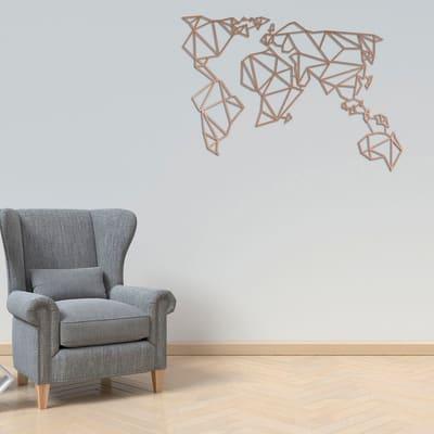 Decorazione da parete World Metal Rame 120x60 cm