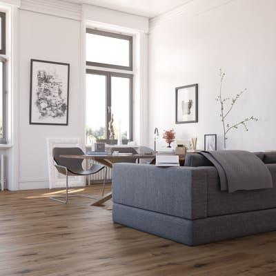 Pavimento spc flottante clic+ Luzerna Sp 5 mm marrone