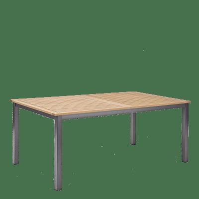 Tavolo da giardino allungabile rettangolare Oris NATERIAL con piano in legno L 180/240 x P 98.9 cm