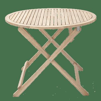 Tavolo da giardino rotondo Solis NATERIAL con piano in legno x P 90 cm Ø 90 cm