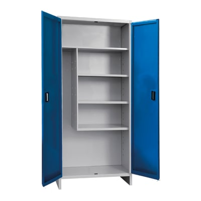 Armadio Pratiko L 80 x P 40 x H 179.5 cm blu e grigio