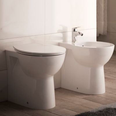 Coppia sanitari pavimento filo muro Miky New IDEAL STANDARD