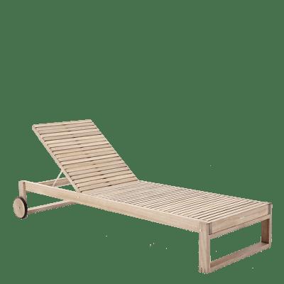 Lettino senza cuscino pieghevole NATERIAL Solaris in legno marrone chiaro