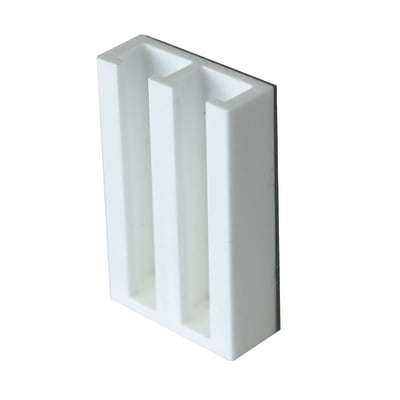 Supporto adesivo per parete bianco , 2 pezzi