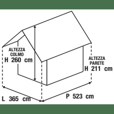 Garage in acciaio al carbonio Boston 17.12 m², Sp 0.4 mm