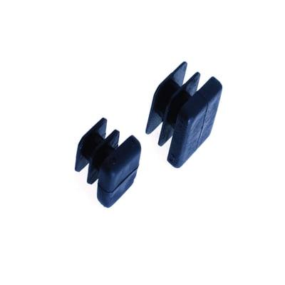 Base palo in plastica / pvc nero 20 x 20 mm,