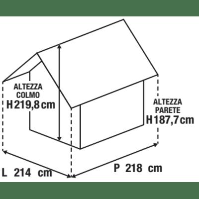 Casetta da giardino in resina Artisan 7x7 KETER 4.04 m² spessore 20 mm