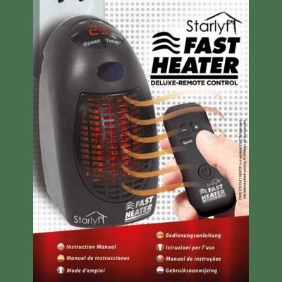 Termoventilatore elettrico Starlyf  Fast  Heater Delux nero 400 W