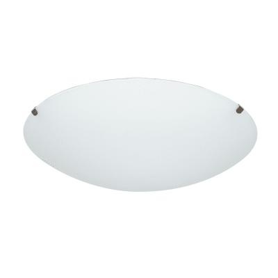 Plafoniera Pluton bianco, in vetro, 25x25 cm, diam. 25 cm, E27 MAX60W IP20