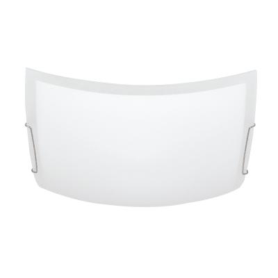 Plafoniera classico Quadra bianco, in vetro, 40x40 cm, 2  luci