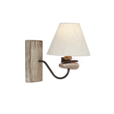 Applique Chalet grigio, marrone, ruggine, in legno, 27x27 cm, E14 MAX40W IP20