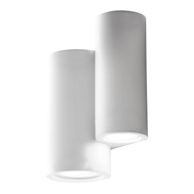 Applique design Banje bianco, in gesso, 4 luci
