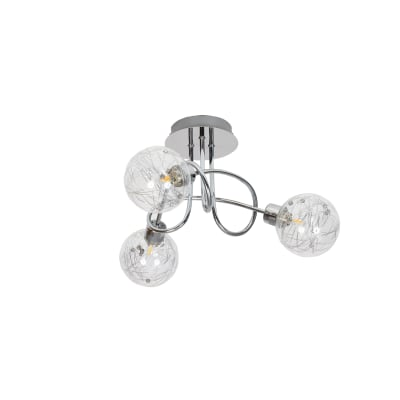 Plafoniera Joya cromato lucido, in alluminio, diam. 43 cm, G9 3xMAX33W IP20