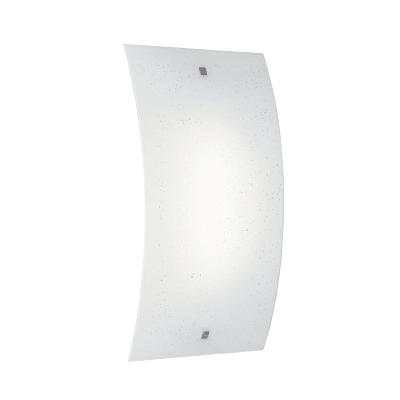Applique Scinty bianco, in vetro, 25x45 cm, LED integrato 20W