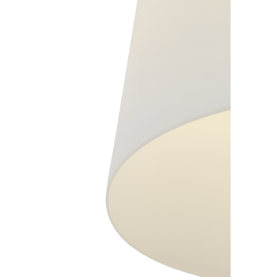 Lampadario Bizen bianco, in plastica, diam. 27 cm, E27 MAX60W IP20