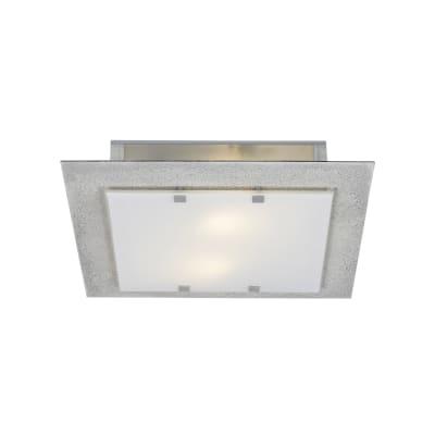 Plafoniera industriale Cemento grigio, in ferro, 40x40 cm, 2  luci LUMICOM