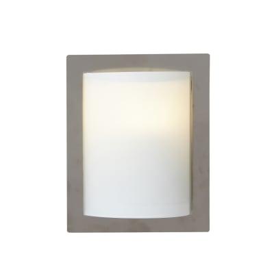 Applique Georg grigio, in vetro, 25x20 cm, E27 MAX60W IP20 INSPIRE