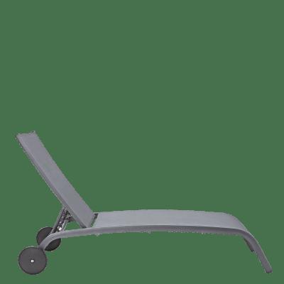 Lettino senza cuscino impilabile NATERIAL Lyra in alluminio