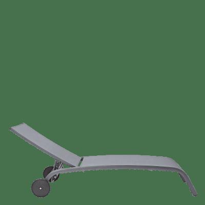 Lettino senza cuscino NATERIAL Lyra in alluminio