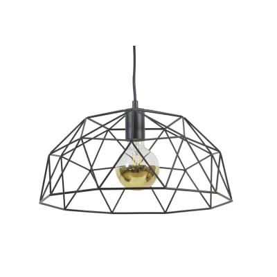 Lampadario Wireframe nero, in metallo, diam. 42 cm, E27 MAX60W IP20 INSPIRE