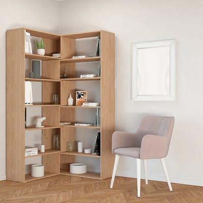 Librerie In Legno Prezzi.Libreria Twin 6 Ripiani L 158 X P 30 X H 179 Cm Legno Prezzi E