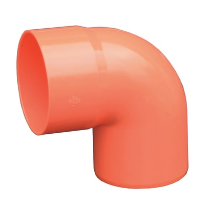 Curva arancione in PVC 87° Ø125 mm
