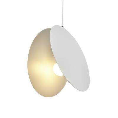 Lampadario Meota bianco, in metallo, diam. 10 cm, E27 MAX60W IP20 INSPIRE